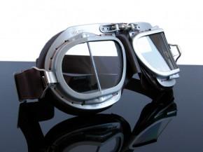 "MOTORRADBRILLE ""HALCYON"" Mark9 (motorcycle goggles), braun f. JET-HELM/helmet !"