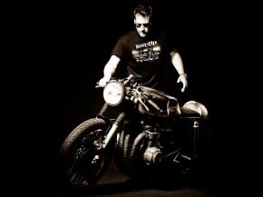 "Cafe Racer T-Shirt ""RECORD RACER"", Gr. XL"