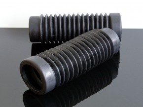 2 Faltenbälge / Fork boots BSA