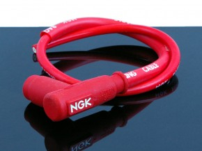 Racing cable incl. spark plug NGK, red