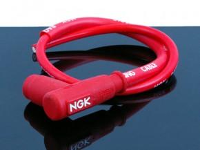 Racing Zündkerzenkabel+Stecker von NGK, rot
