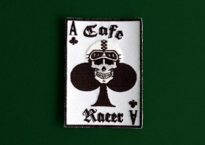 """CAFE-RACER SKULL/Ace"" AUFNÄHER/Patch"