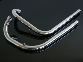2 DOWNPIPES for Triumph 650