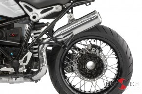 """SILENCER """"Pure Craft HIGH"""" by HATTECH, stainles steel polished, with """"EG-ABE"""" f. BMW R NineT - Euro 4"""