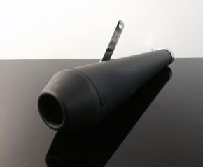 Megaphon-Auspuff, in mattschwarz