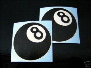 2 EIGHTBALL, 8-Ball-Sticker f.CAFE-RACER