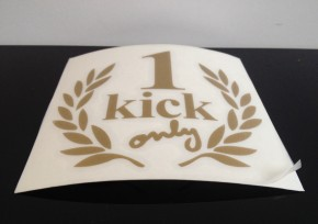 """1 KICK-only""-Aufkleber, golden"