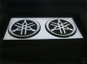 2 YAMAHA-Logos LOGO-SATZ Logosatz STIMMGABELN Aufkleber
