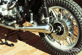 "2* SILENCER / exhaust system, 38mm, stainless steel, polished, ""e""-marked, f. BMW R-models / 5 / 6 / 7"