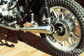 """2* AUSPUFF """"Gunball"""" v. Hattech, 38 mm, Edelstahl poliert, m. EG-ABE, f. BMW R-Modelle / 5 / 6 / 7"""