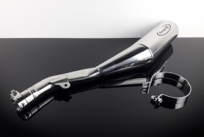 SILENCER / exhaust system, Sebring, stainless steel / aluminium, polished, f. YAMAHA XT500