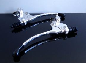 2 Hebelarmaturen BREMSARMATUR / KUPPLUNGARMATUR, Aluminium, 22mm