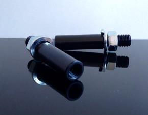 2x BLINKERARME, Blinkerverlängerung, -adapter, M10->M8, schwarz