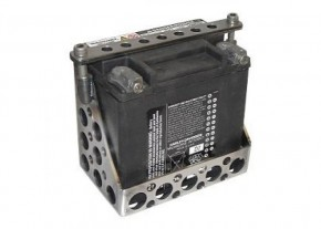 BATTERY BOX, lasered perforated raw steel