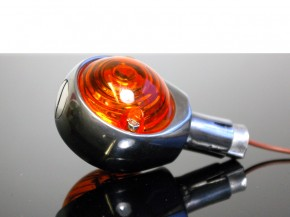 "1 Bar end INDICATOR ""Bulls eye"", polished alloy"