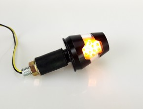 "Pair of bar end INDICATORS, black, ""e""-marked"
