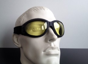 """Bandito"" Helmet-GOGGLES, (yellow tinted lenses)"
