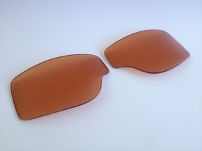 ERSATZGLÄSER f. T2 / AVIATOR-Motorradbrillen: Braun / Bernstein