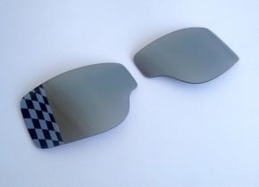 ERSATZGLÄSER f. T2 / AVIATOR-Motorradbrillen: silber verspiegelt