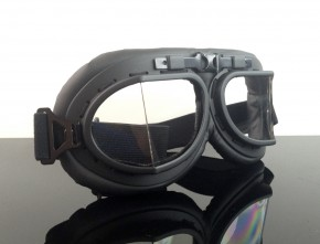 Motorcycle goggles, black
