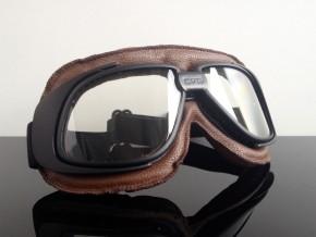 MOTORRADBRILLE / Motorrad-Brille / Goggles, modern, braun
