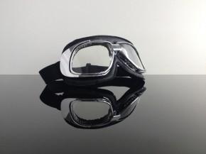 Helmet-goggles/glasses, black chrome