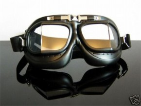Motorcycle goggles, black/chrome