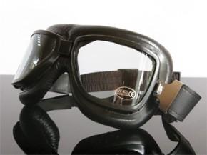MOTORRADBRILLE Goggles f. JET-Helm, schwarz (for open face helmets, black)