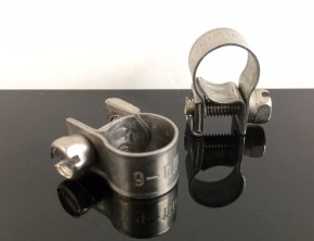 2 Fuel Feed PIPE clamps for 6 mm fuel feed pipe
