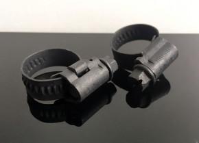 2 Mini BENZINSCHLAUCH- SCHELLEN, für 6mm und 8mm Benzinschlauch, schwarz