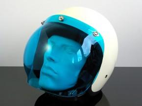 BUBBLEVISOR, Windschild für Jethelm (Jet HELMET/Casque du jet), blau
