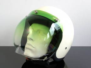 Bubblevisor/WINDSHIELD for Jet HELMET (Casque du jet), green gradient