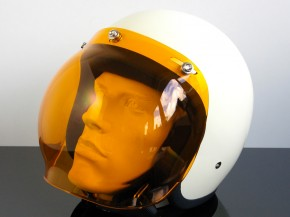 Bubblevisor/Windschild für Jethelm/HELM (Jet HELMET/Casque du jet), orange