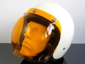 Bubblevisor / Windschild für Jethelm / HELM, orange
