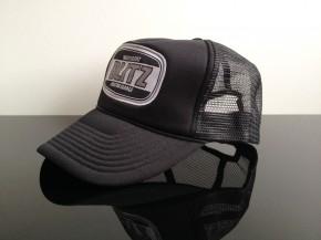 CAP, Truckercap BLITZ MOTORCYCLES, schwarz/weiß, Logo