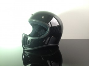 Retro-style CROSS-HELMET, BLACK, DOT approved