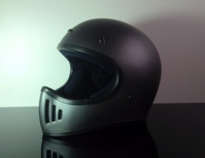 Retro-style CROSS-HELMET, FLATGREY, DOT approved