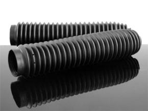 Enduro - Fork Gaiters, black DR KLR KLE XT XL XR NX TT 250 350 500 600 650 KTM+