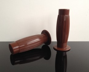 2 rubber GRIPS, Beston-style, KICKSTARTER edition, brown