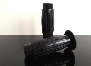 2 klassische BESTON-Griffe, Griffgummis v. KICKSTARTER, schwarz