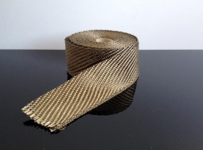 HEAT TAPE/WRAP Band for Downpipes, Vintage brass
