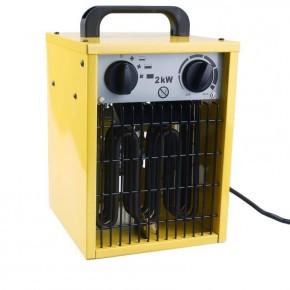 Elektrischer HEIZLÜFTER mit Gebläse, stabile Werkstatt Heizung im Metallgehäuse, 2000W