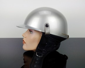 "OLD-STYLE ""Pudding-bassin"" CAFE-RACER HELMET, size XXL slightly damaged"