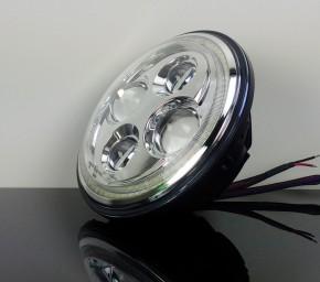 LED-SCHEINWERFER mit Standlichtring, chrom