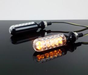 2 LED-BLINKER - schwarz, Aluminium