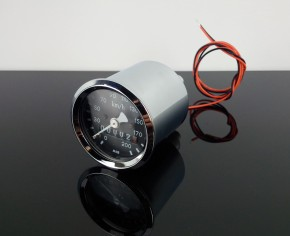 Mini-Tacho für BMW, 48mm, CHROM, R45, K-Wert: 1,0