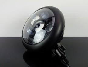 LED-SCHEINWERFER mit Lampentopf, schwarz - DOT - Bates-Style