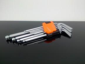 9-teiliges INNENSECHSKANT-Schlüssel Set inkl. Kugelkopf und Halter