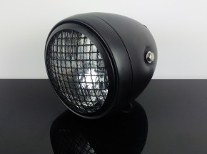 Vintage HEADLIGHT black, with speedo hole 60mm