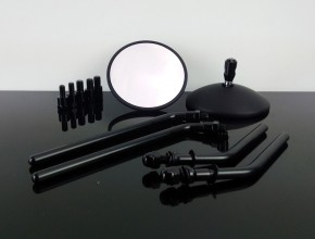 2 CAFE-RACER mirrors, black